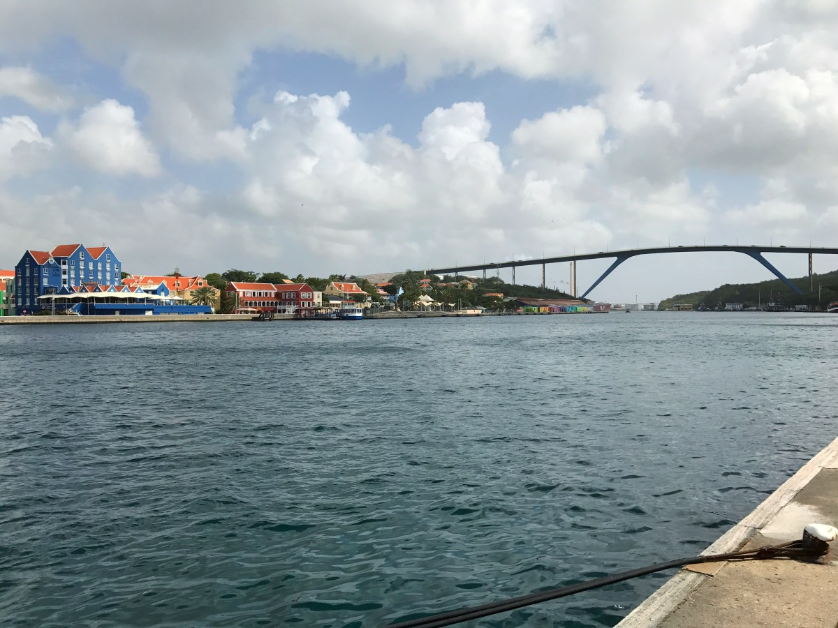 Overlooking the bay in Willemstad, Curaçao