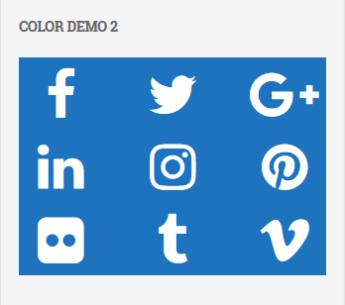 Social Media Widget Preview Icon white blue color