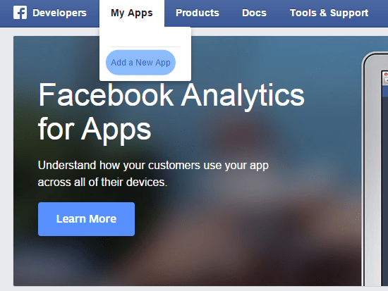 add facebook app