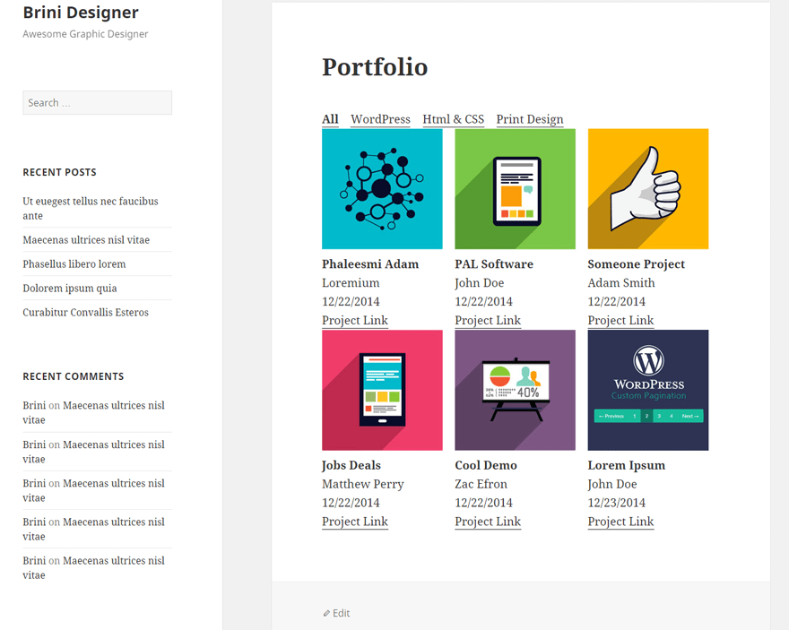 Awesome Filterable Portfolio