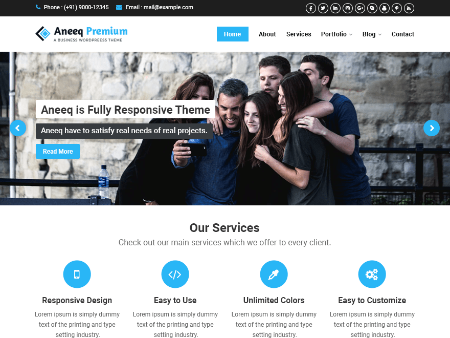 Aneeq Premium WordPress Theme
