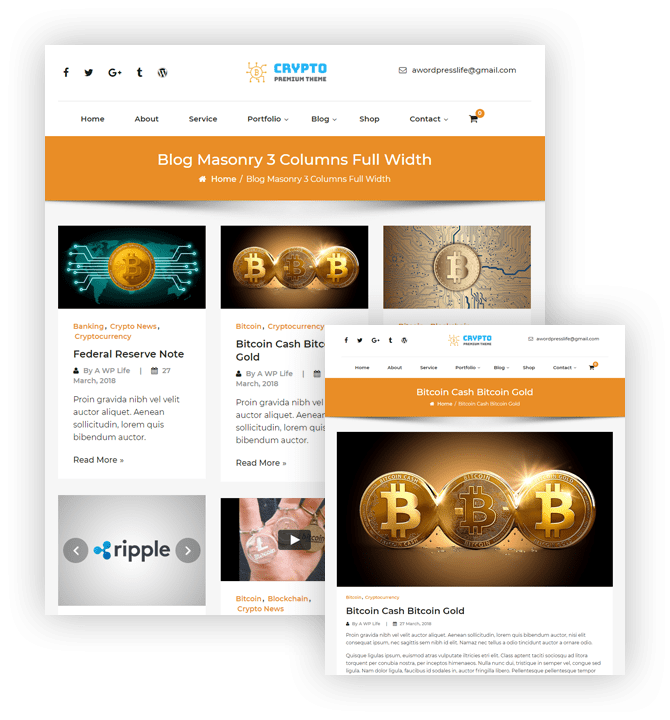 Crypto Premium WordPress Theme For Cryptocurrency – Blog Masonry Detail Image – A WP Life