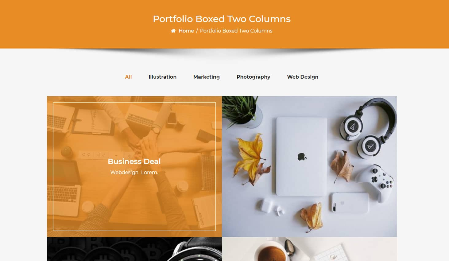 Crypto Premium WordPress Theme For Cryptocurrency Business and Blog Websites - A WP Life - Portfolio Boxed Two Column Layout Template