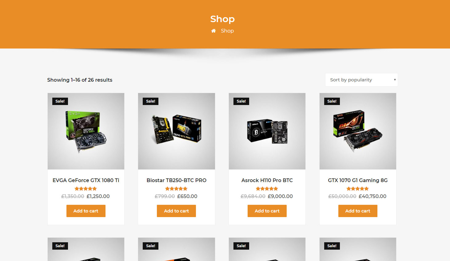 Crypto Premium WordPress Theme For Cryptocurrency Business and Blog Websites - A WP Life - WooCommerce Shop Page Template
