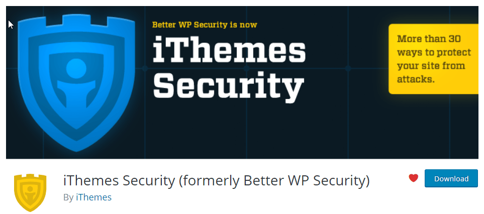 iThemes Security for better WordPress Security