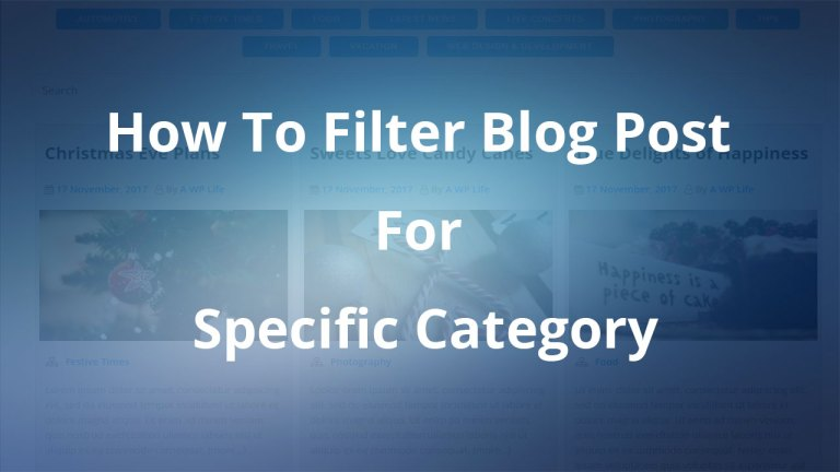 How To Filter Blog Post For Specific Category