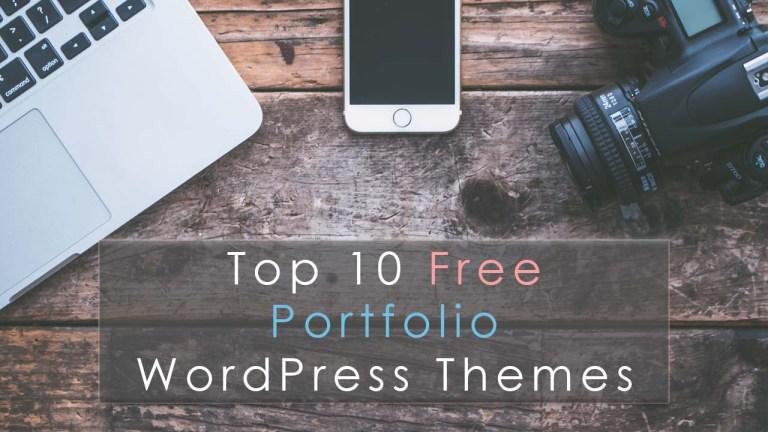 Top 10 Free Portfolio WordPress Themes