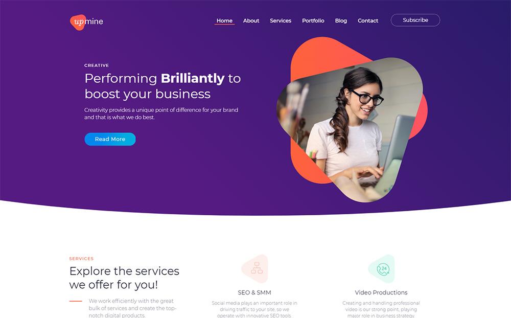 Upmine-Corporate-Digital-Agency-WordPress-Theme