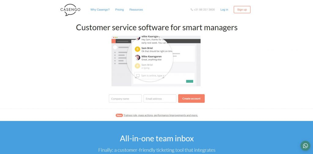 Casengo Customer Service Software
