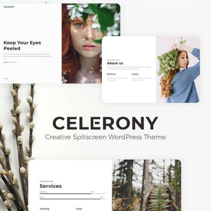 Celerony - Creative Splitscreen Elementor WordPress Theme
