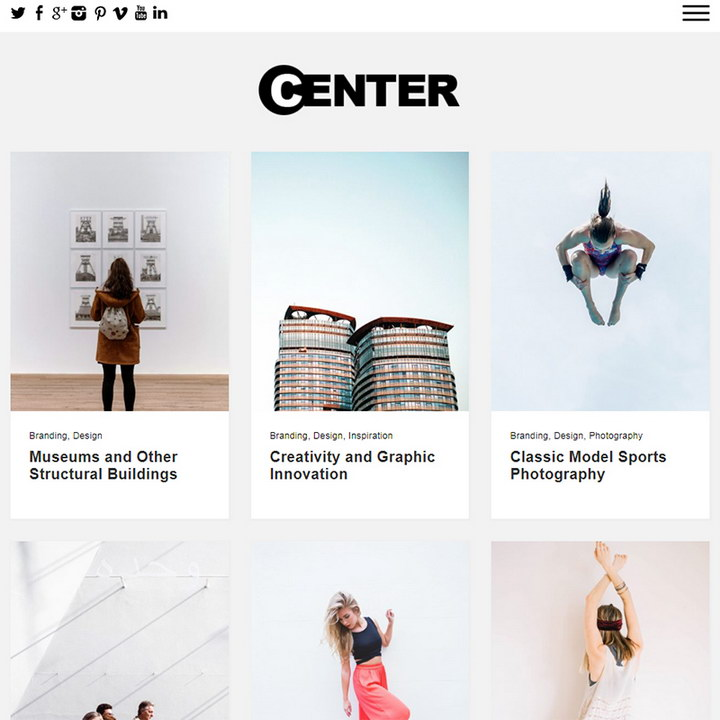 Center - WordPress Theme