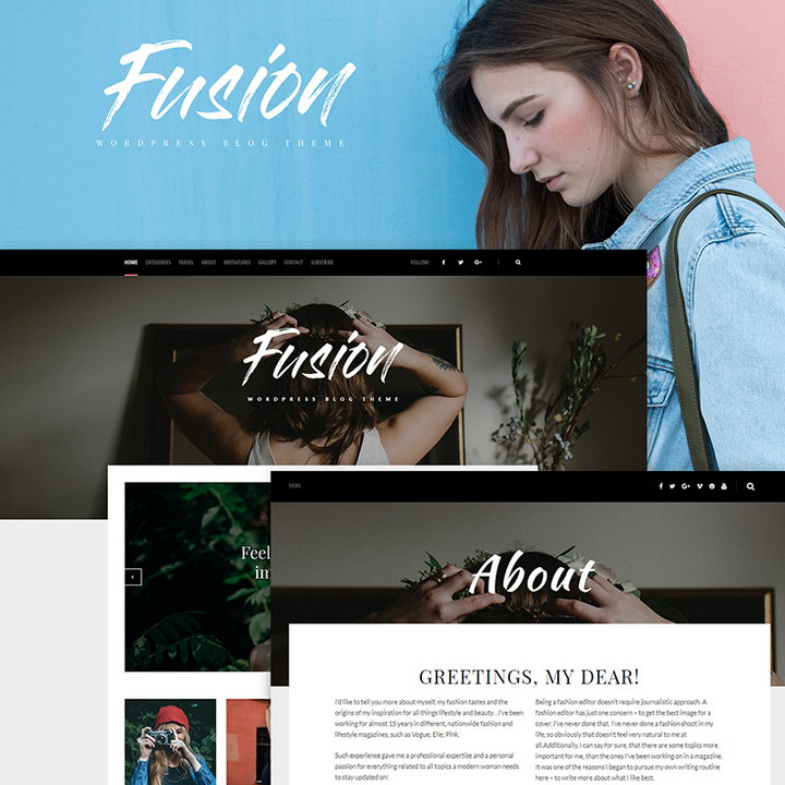 Fusion - WordPress Blog Theme
