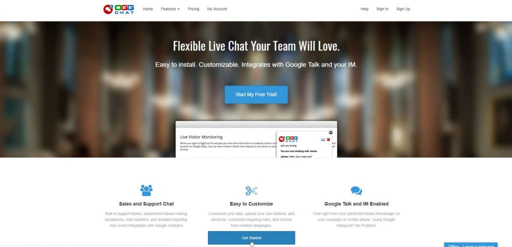 Ogg Flexible Live Chat