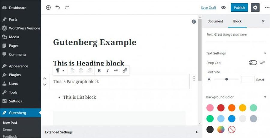 Gutenberg WP Editor