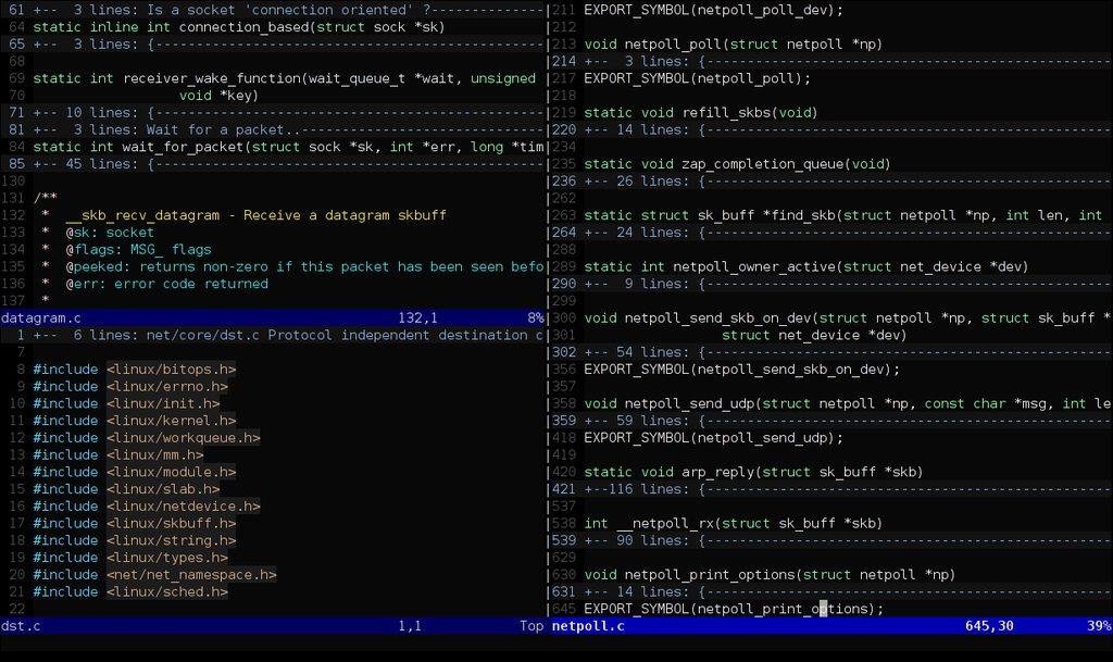 Vim Code Editor Window