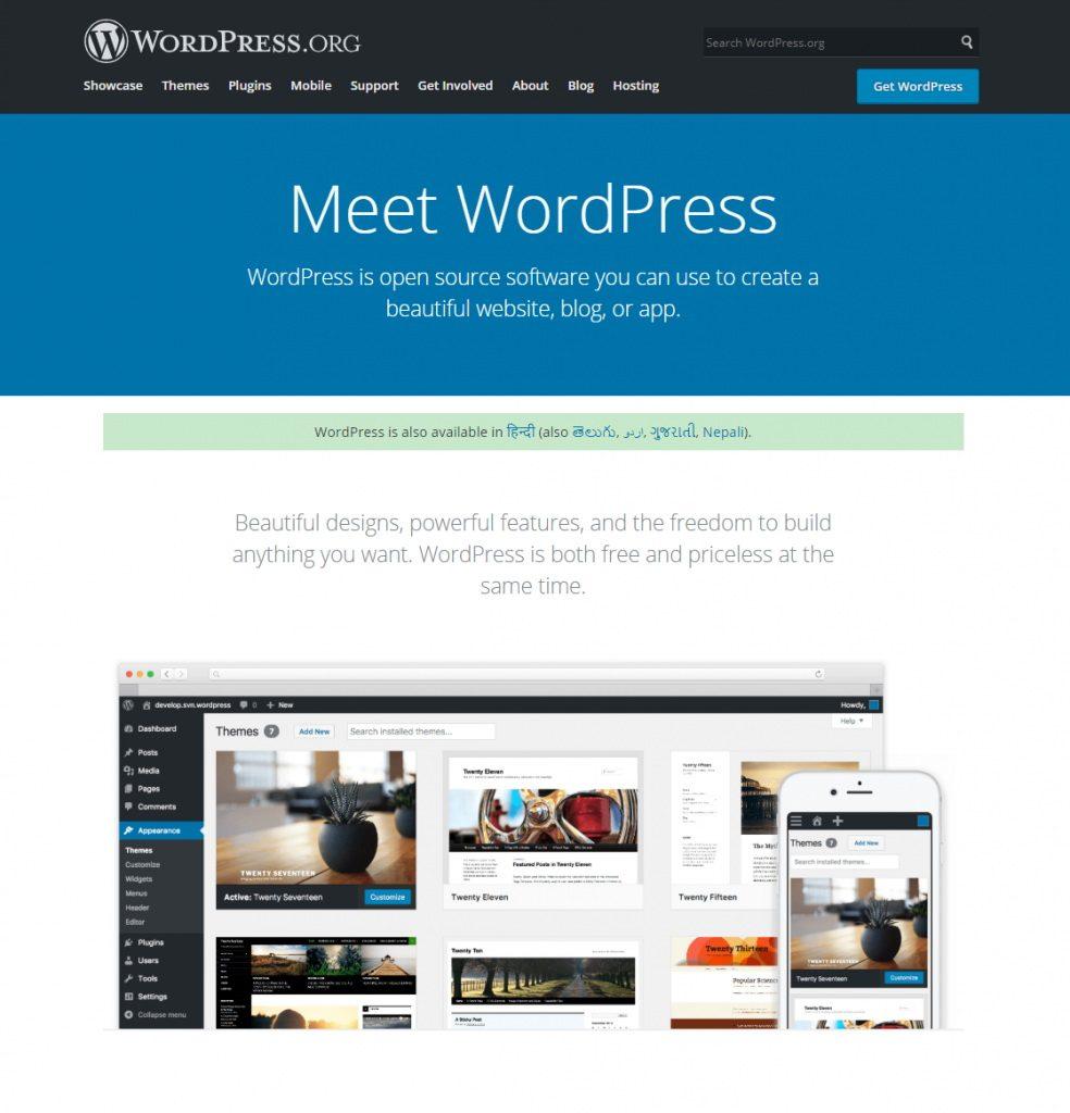 WordPress Top CMS