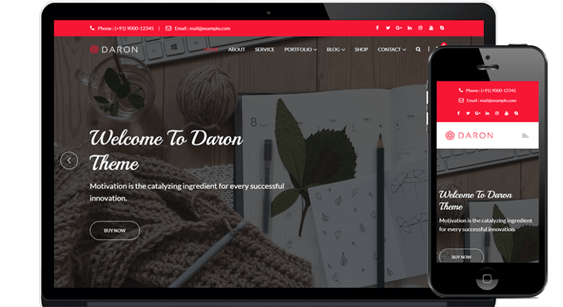 Daron WordPress theme