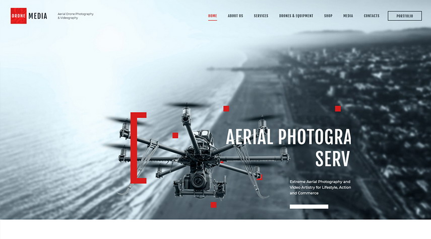 Drone Media Aerial Photography & Videography WordPress Theme