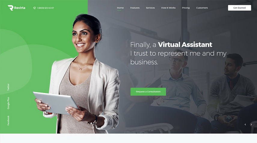 Revirta Virtual Assistant WordPress Theme