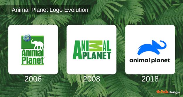Animal Planet logo evolution