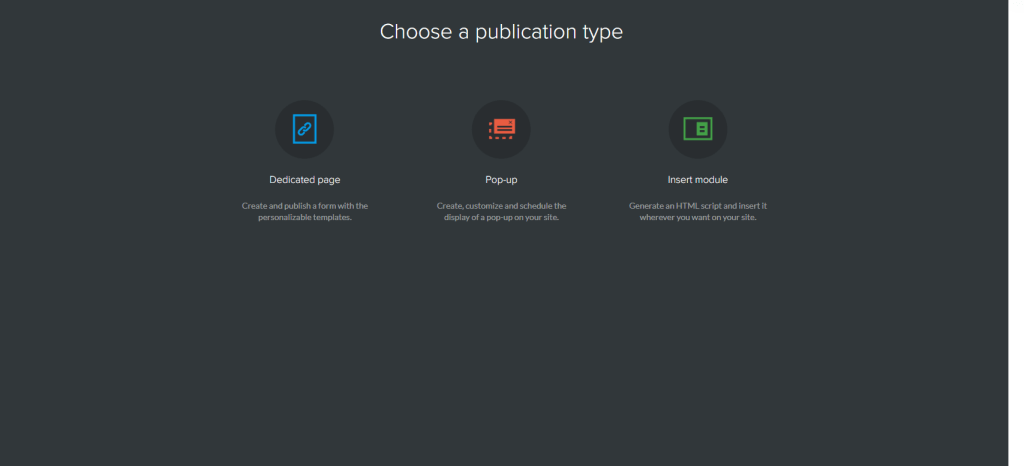 choose a publication type