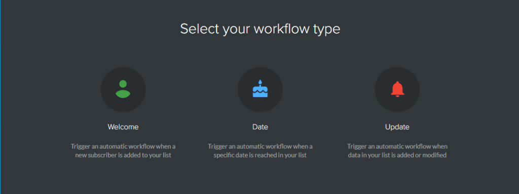select your workflow type