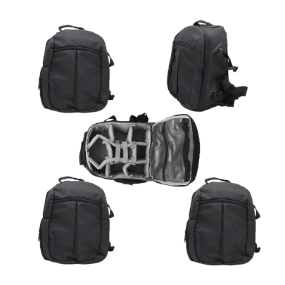 Solibag Slr Camera Travel Backpack Waterproof Carry Bag For Canon, Nikon, Sony, Pentax Black Shoulder Case -7001 Pack Of 5Pcs Backpacks Camera Bags