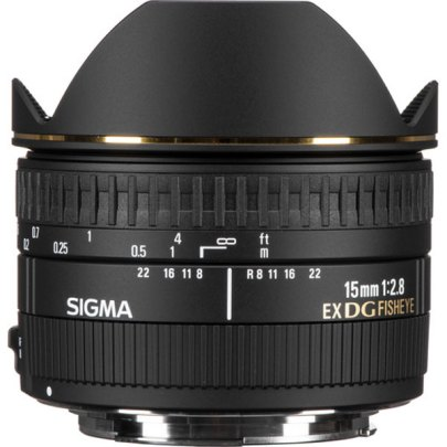 Sigma Af 15Mm F/2.8 Ex Dg Diagonal Fisheye F/Canon Lenses Digital Camera Lens