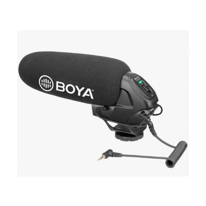 BOYA BY-BM3030 On-Camera Supercardioid Shotgun Microphone Audio Wired Shotgun Mics ENG/EFP audio