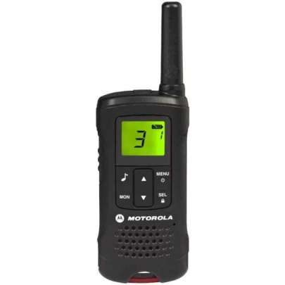 Motorola TLKRT60  Walkie Talkie Black Twin Pack & Charger 2-Way Radios Intercom Systems