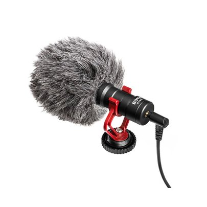 BOYA BY-MM1 Mini Cardioid Condenser Microphone Audio Wired Shotgun Mics ENG/EFP audio