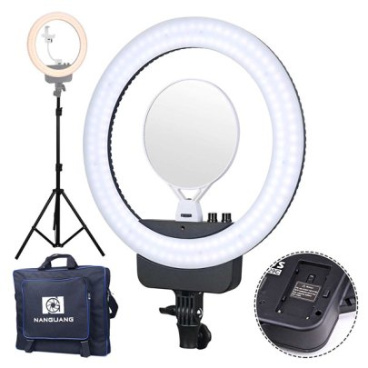 Nanguang Ring Light V29C With Mirror & Bracket Black Lighting Lighting
