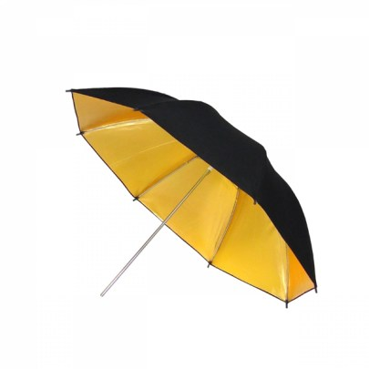 Fancier Umbrella Ur02 Black/Gold 33″ Light Modifiers Fancier