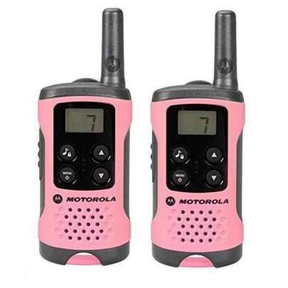 Motorola Walkie Talkies T41 Pink Twin Pack 2-Way Radios Intercom Systems
