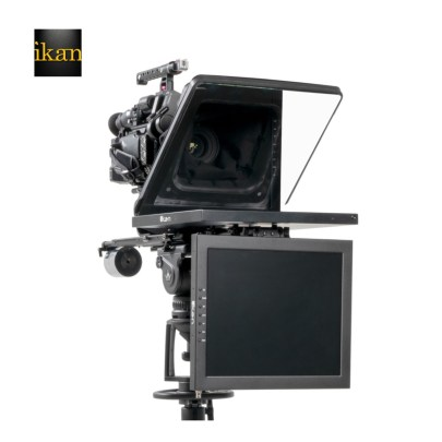 Ikan PROFESSIONAL 15″ HIGH BRIGHT BEAM SPLITTER TELEPROMPTER WITH 15″ TALENT MONITOR KIT uncategorized Ikan