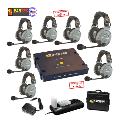 Eartec Comstar XT77D 7/Pers Full Duplex System All In One Headset Communications & IFB Eartec