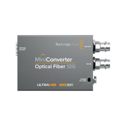 Blackmagic Design Mini Converter Optical Fiber 12G-SDI Pro Video Black Magic