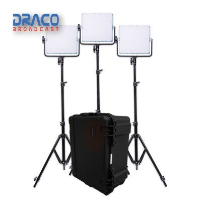 Dracast 728 RGBW 3-Light-Kit with Hard Case Kit Lights Draco Broadcast