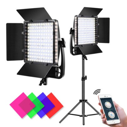GVM LT-50S Bi-Color LED Video 2-Light Kit Continuous Lighting GVM