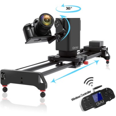 GVM 3D 3-Axis Wireless Carbon Fiber Motorized Slider with Bluetooth Remote (32″) Pro Video GVM