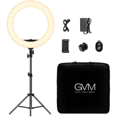 GVM Bi-Color LED Ring Light (18″) Continuous Lighting GVM