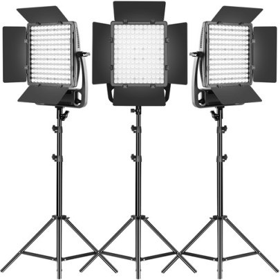 GVM LT100S Bi-Color LED 3-Light Panel Continuous Lighting GVM