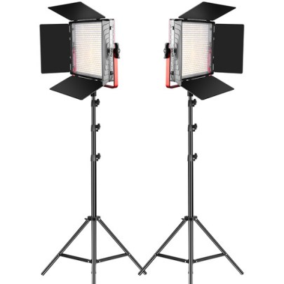 GVM MB832-2L Bi-Color LED 2-Light Kit with Stands Continuous Lighting GVM