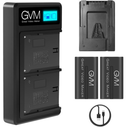 GVM 6600mAh V-Mount Battery with USB Charger Batteries & Power GVM