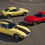 3 schnittige Opel GT am Start