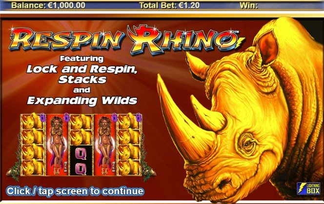 respin rhino slot