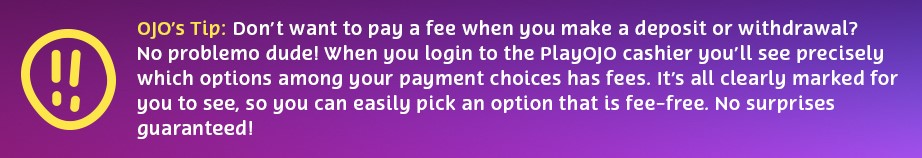 ojo tip about fees