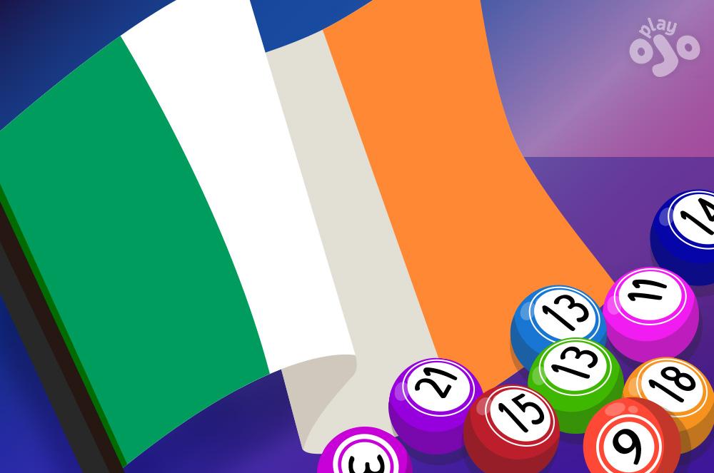 irish flag with bingo balls