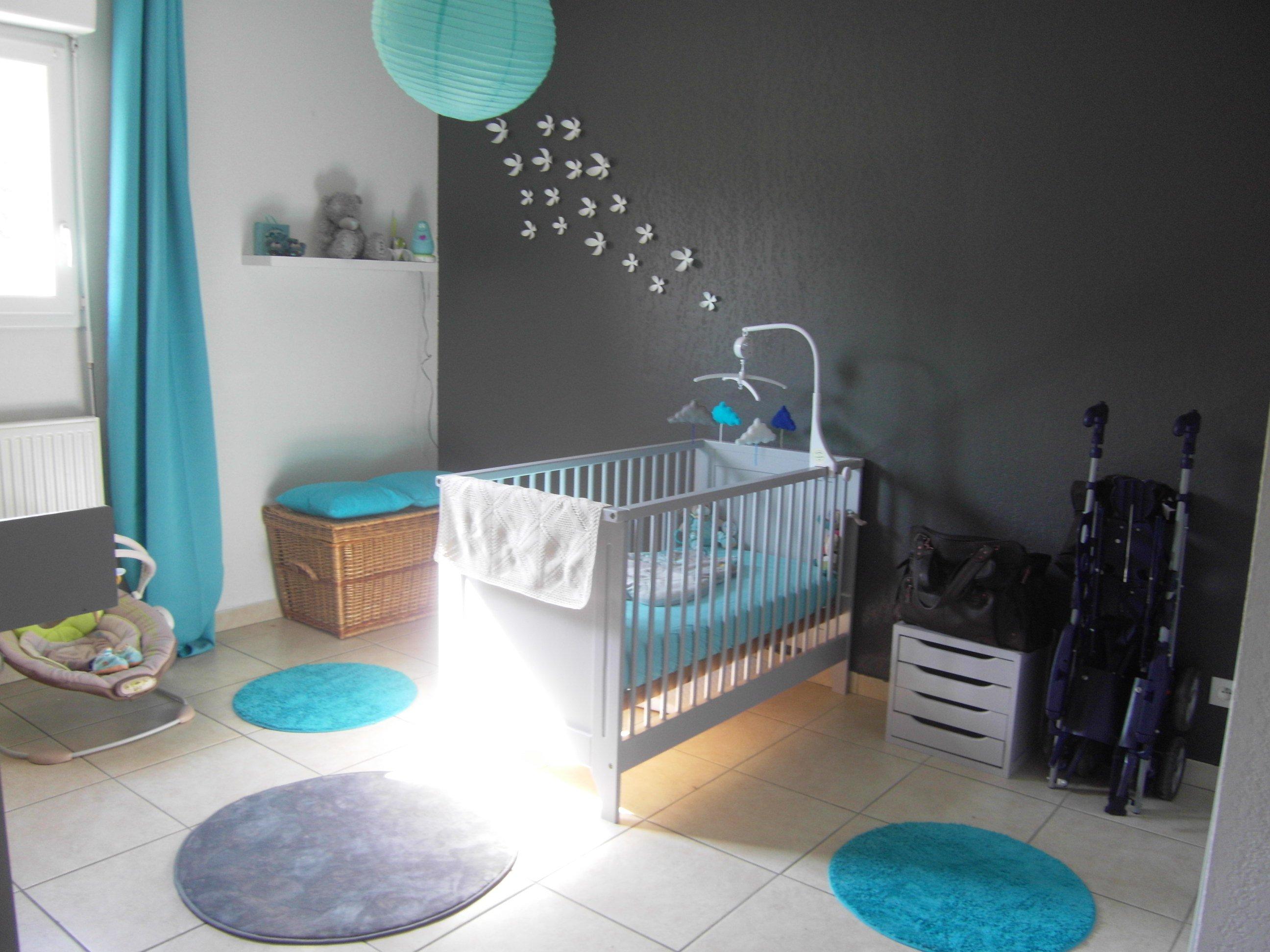 tapis chambre bleu turquoise enredada