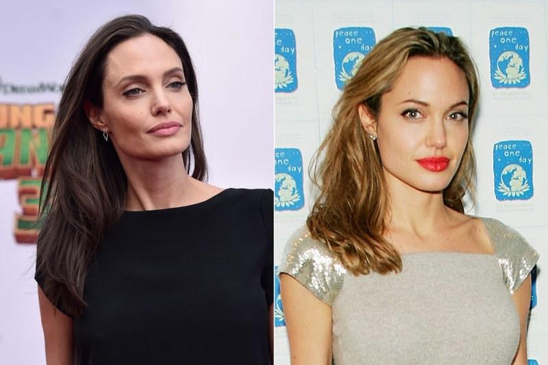 A pesar de su actual estilo gótico, la actriz Angelina Jolie en realidad posee una de las Características corporales poco comunes: Cabello Rubio
